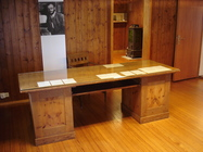 writing table, desk, writing desk